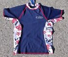 Wave Zone Rash Guard - Blue - Hawaiian