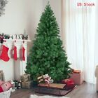 slim artificial christmas trees uk - 4-8ft Artificial Christmas Tree Green Stand Xmas Slim Pine Indoor Outdoor Decor