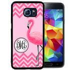 MONOGRAMMED RUBBER CASE FOR SAMSUNG NOTE 8 5 4 3 PINK FLAMINGO CHEVRON