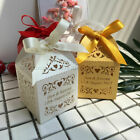 Luxury Personalised Name Date Love Laser Cut Wedding Favour Gift Boxes & Ribbons