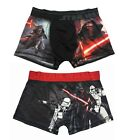 Mens Star Wars (Sz M, L) Satin Boxer Shorts Darth Vader Storm Troopers