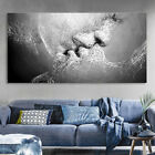 Внешний вид - Black White Love Kiss Abstract Art on Canvas Painting Wall Art Picture Print New