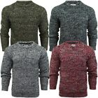 Brave Soul Kins Crew Neck Marl Cable Knitted Jumper  Mens Size