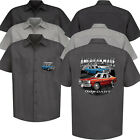 Dodge Dart Garage Mechanic Work Shirt American Classic Mopar Muscle Car Clothing $48.75 USD