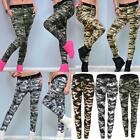 US Women Lady Camo Jogging Pant Bottom Cuffed Tracksuit Trousers Sweatpants