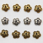 10X3mm Tibetan Silver Bead Caps Charms Alloy Metal Beads Jewelry Findings Carfts