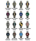 Pro Football Superbowl Variety Team Logo Steel Sport Metal Analog Wrist Watch #2 $16.99 USD on eBay