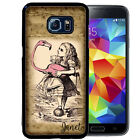 PERSONALIZED RUBBER CASE FOR SAMSUNG S8 S7 S6 S5 EDGE PLUS WONDERLAND FLAMINGO