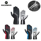 ROCKBROS Winter Cycling Full Finger Gloves Windproof Thermal Anti-slip Pad
