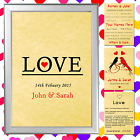PERSONALISED LOVE PRINT VALENTINES GIFT SET GREAT FOR HIM OR HER MAN OR WOMAN