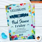 Personalised kids birthday party invitations invites childrens cards 5 6 7 8
