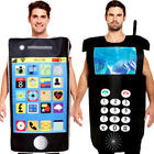Mobile Mens Fancy Dress Novelty Cell Phones Telephone Adults Costume Outfits New
