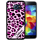 PERSONALIZED RUBBER CASE FOR SAMSUNG NOTE 8 5 4 3 PINK LEOPARD CHEETAH