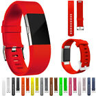 rubber strap - For Fitbit Charge 2 Replacement Silicone Rubber Band Strap Wristband Bracelet US