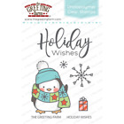HOLIDAY WISHES Clear Stamps/Dies Set-The Greeting Farm-Stamping Craft-Penguin