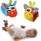 Multi shape Animal Soft Toy Baby Infant Kids Hand Wrist Bells Foot Sock Rattles