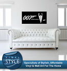 JAMES BOND 007 MOVIE DECAL DECOR STICKER WALL ART VARIOUS COLOURS $9.2 USD on eBay