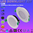 WHITE 13W TURN  LED  DOWNLIGHT KITS DIMMABLE WARM DAYLIGHT IP44 FIVE YEARS