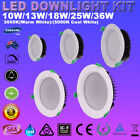 LED Downlight Kit Dimmable 10W 13W 18W 25W 36W Samsung LEDs Recessed Down Lights