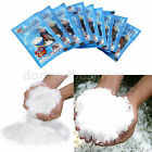 1~100 bags Instant Snow Fluffy Super Absorbant Magic Prop Christmas Party Decor