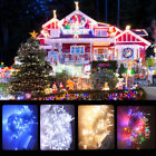 30m 300 LED Outdoor Waterproof Christmas Fairy Lights Warm White Copper Wire UK