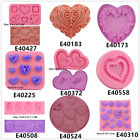Love Hearts Silicone Cake Fondant Cookies Biscuit Chocolate Molds Decorate Tool