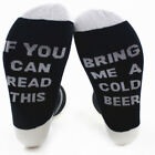 """Winter Custom Unisex Socks """"If You Can Read This Bring Me a Glass of Beer Wine''"""