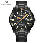 Luxury PAGANI DESIGN Date 316L Steel Band Waterproof Men Quartz Wrist Watch Gift