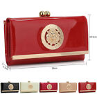 New Large Ladies Wallet Patent Faux Leather Trifold Matinee Bobble Women Purses