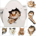 2019 New Cute Cat Dog 3d View Smashed Wall Sticker Bedroom Toilet Stickers Decal