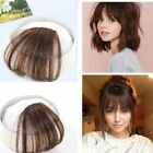 Us-Human Hair Clip in Fringe Light Breathable Air Bangs Front Hairpiece