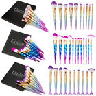 12Pcs New Xmas Mermaid Diamond Makeup Brushes Set Powder Contour Concealer Brush