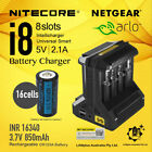 Netgear Arlo Camera Rechargeable Battery CR123a & Nitecore i8 battery charger