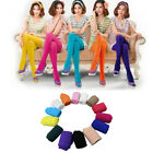 HK- Fashion Candy Colors Opaque Footed Socks Tights Pantyhose Womens Stockings W