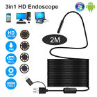 8 LED USB Endoscope Inspection Camera 1200P HD Borescope 3in1 Waterproof IP68