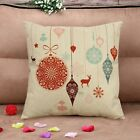 New Xmas Decorative Heavy Fabric Cotton Square Throw Pillowcase Cushion Cover image