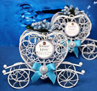 US Carriage Candy Box Wedding Christmas Party Decor Gift Case Iron Sweets Heart