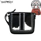 3 Clrs Trinity Ranch Hair-On Leather Concealed Carry Montana West Messenger Bag