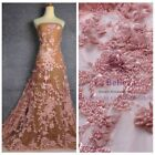 FASHION STYLE Super heavy pearls pink and other 3colors lace fabric 51'' width