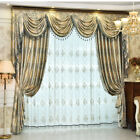 Custom curtains luxury bedroom balcony jacquard cloth curtain valance tulle N008