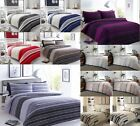 Stripe Duvet Covers Quilt Cover Luxury Reversible Bedding Sets All Sizes