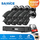 SANNCE 1080P HDMI HD-TVI 8CH/4CH DVR 720P Outdoor IR Home Security Camera System