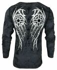 XTREME COUTURE by AFFLICTION Men T-Shirt IMPERIAL DEATH Skul WINGS Biker Gym $40 image