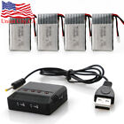 3.7V 20C 650mAh Battery + USB DC Charger for Syma X5C X5A RC Drone Quadcopter