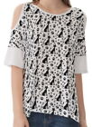 Cat And Paw Women Cutout Shoulder Batwing Sleeve Blouse b17 acr03192