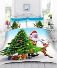 Digital 3D Printed Father Christmas Duvet Quilt Cover Bed Set With Pillowcases