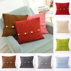 Vintage Knitted Pillow Case Solid Sofa Waist Throw Cushion C