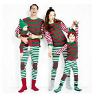 Family Christmas Themed Striped Outfit Sleepwear Kids and Adult Sizes PK122