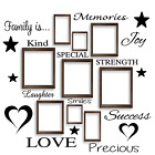 FAMILY IS Words Wall Art Stickers - Vinyl Decal for Picture Frames