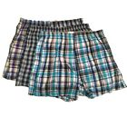 Mens 3 Pack Checkered Boxer Shorts Size S M L XL XXL